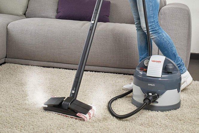 Limpiar Moquetas en Seco con Vaporeta Santos Pavimentos